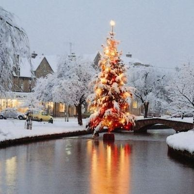 Reason 100 - Bourton Christmas tree in the river 400